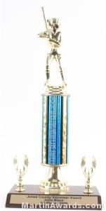 Blue Single Column Female Softball With 2 Eagle Trophy