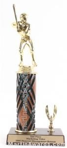 Wood Single Column Male Baseball With 1 Eagle Trophy