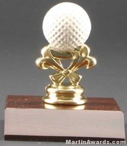 Color Golf Ball Trim Trophy