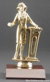Female Public Speaker Trophies