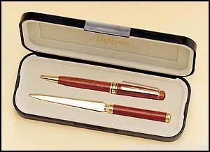 Wooden Pen and Letter Opener Set