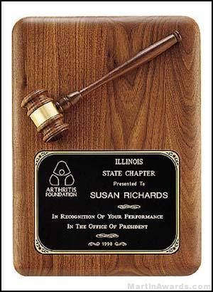 Law and Order Gavel Plaque
