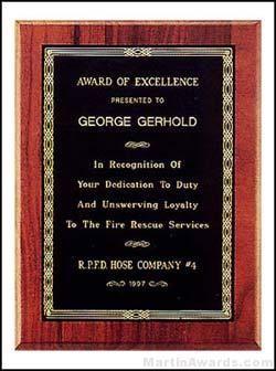 Vintage Sheffield Award Plaque