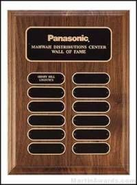 Walnut Perpetual Plaques with Oval Plates