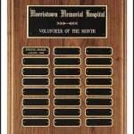 Plaque – American Walnut Perpetual Plaques with Black Brass Plates 1