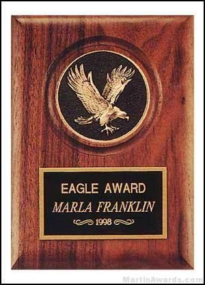 Plaque - Walnut Stained Plaques with Cast Eagle Medallion