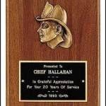 Plaque – Fireman Award Plaques with Cast Fireman 1