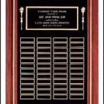 Plaque – Solid Walnut Frame Perpetual Plaque with Black Brass Plates 1