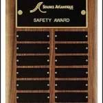 Plaque – Perpetual Award with Black Brass Plates 1