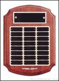 Plaque - Perpetual Award with Black Brass and Gold Back Plates