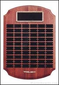 Plaque - Perpetual Award with Black Brass 60 Plates