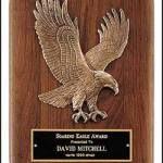 Plaque – Walnut Plaque with Sculptured Relief Eagle Casting Plaques 1