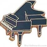 3/4″ Piano Lapel Pin 1