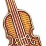 3/4″ Violin Lapel Pin 1
