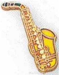 "3/4"" Saxophone Lapel Pin"