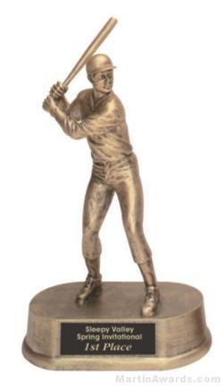 Male Baseball Gold Resin Trophy