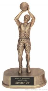 Male Basketball Gold Resin Trophy