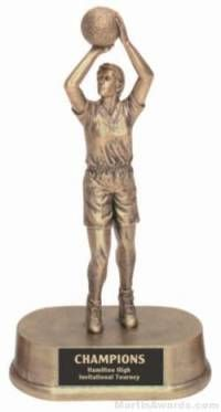 Female Basketball Gold Resin Trophyy