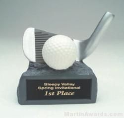 White/Silver Baseball On Base Gold Resin Trophy