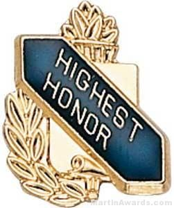 "3/8"" Highest Honor School Award Pins"