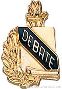 """3/8"""" Debate School Award Pins"""