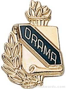 "3/8"" Drama School Award Pins"