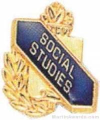 "3/8"" Social Studies Academic Award Pins"