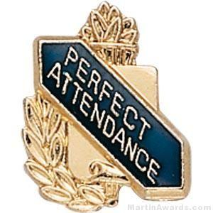 """3/8"""" Perfect Attendance School Award Pins"""