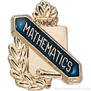 "3/8"" Mathematics Award Pins"