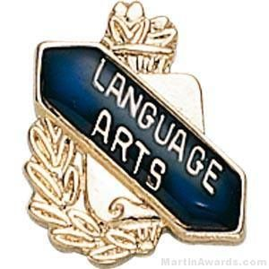 "3/8"" Language Art School Award Pins"