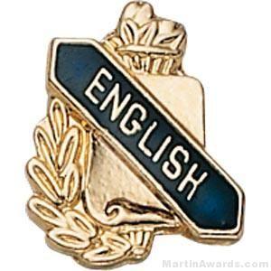 "3/8"" English School Award Pins"