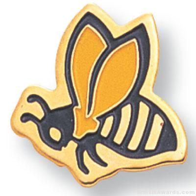 Hornet Mascot Lapel Pin