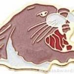 15/16″ Enameled Cougar Mascot Pin 1
