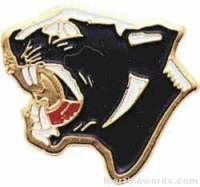 """7/8"""" Enameled Panther Mascot Pin"""
