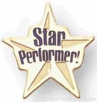 Star Performer Soft Enamel Lapel Pin