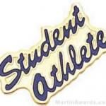 15/16″ Etched Soft Enamel Student Athlete Chenille Letter Pin 1