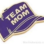 7/8″ Etched Soft Enamel Team Mom Chenille Letter Pin 1