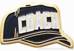 """1"""" Etched Soft Enamel Coach Chenille Letter Pin"""