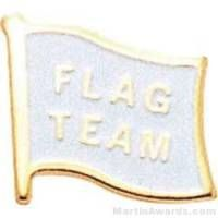 "1/2"" Etched Soft Enamel Flag Team Chenille Letter Pin"