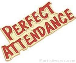 """1 1/8"""" Etched Soft Enamel Perfect Attendance Chenille Letter Pin"""