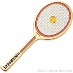 """1 1/2"""" Etched Soft Enamel Tennis Chenille Letter Pin"""