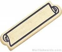 "15/16"" Etched Soft Enamel Small Service Bar Chenille Letter Pin"