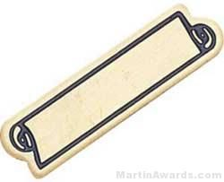 """1 3/16"""" Etched Soft Enamel Large Service Bar Chenille Letter Pin"""