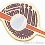 1″ Etched Soft Enamel Glove, Baseball, Bat Chenille Letter Pin 1