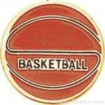 7/8″ Etched Soft Enamel Basketball Chenille Letter Pin 1