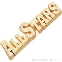 """1 1/8"""" All Stars Chenille Letter Insert Pins"""