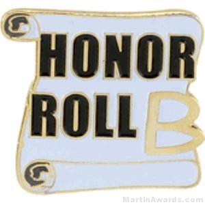 B Honor Roll Award Lapel Pin