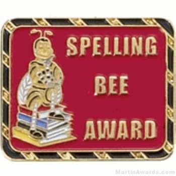Spelling Bee Award Lapel Pin