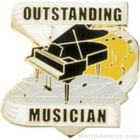 Outstanding Musician Award Lapel Pin