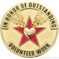 In Honor of Outstanding Volunteer Work Award Lapel Pin
